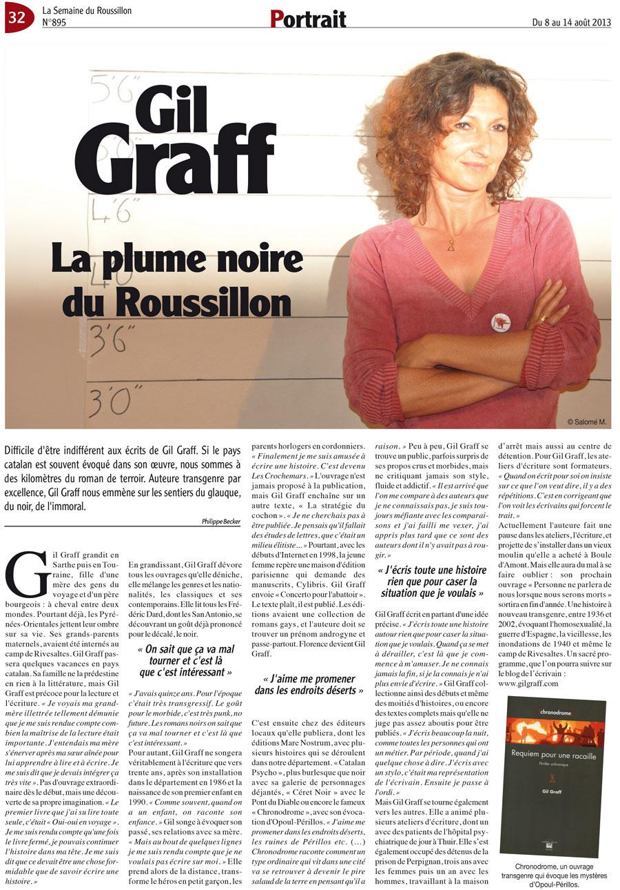 Gil Graff, la plume noire du Roussillon